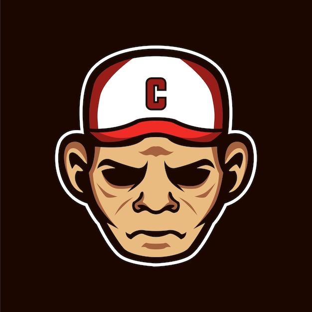 Mascot captain sports logo Vector Premium