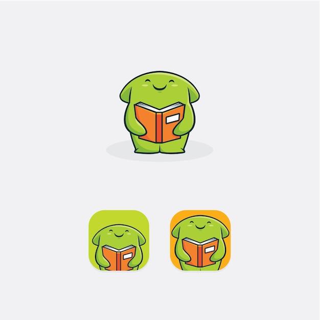 Mascota amante de los libros   Descargar Vectores Premium