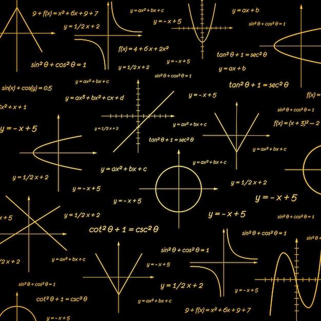 Matemáticas abstractas vector gratuito