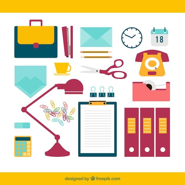 Material de oficina descargar vectores gratis for Material de oficina