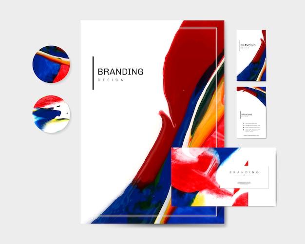 Materiales de marca artísticos. vector gratuito