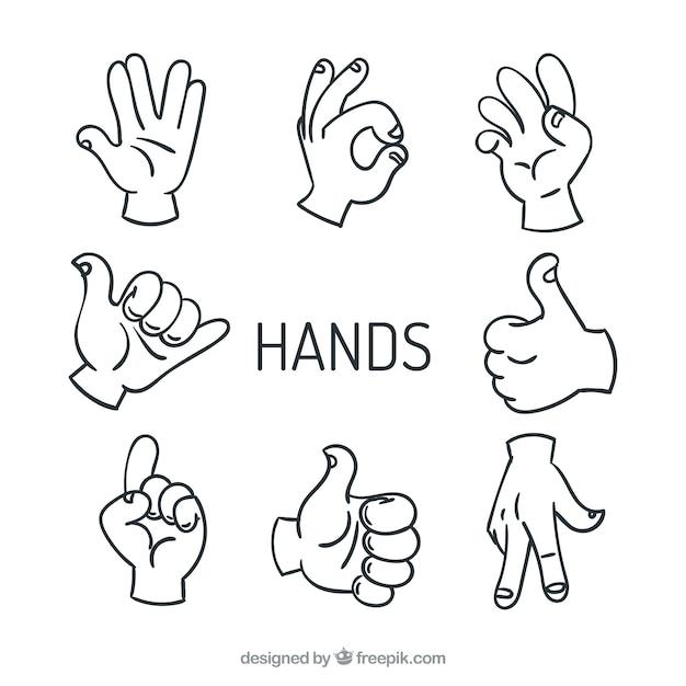 Máximo de cinco manos vectores de señal vector gratuito