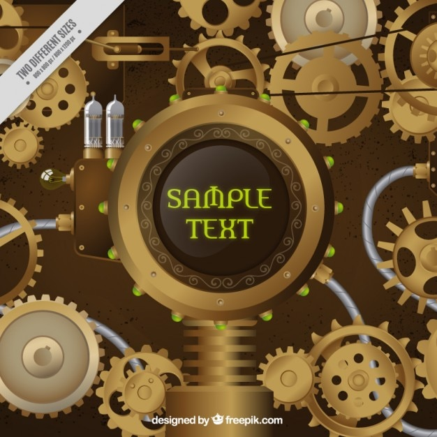 Mecanismo en estilo steampunk vector gratuito
