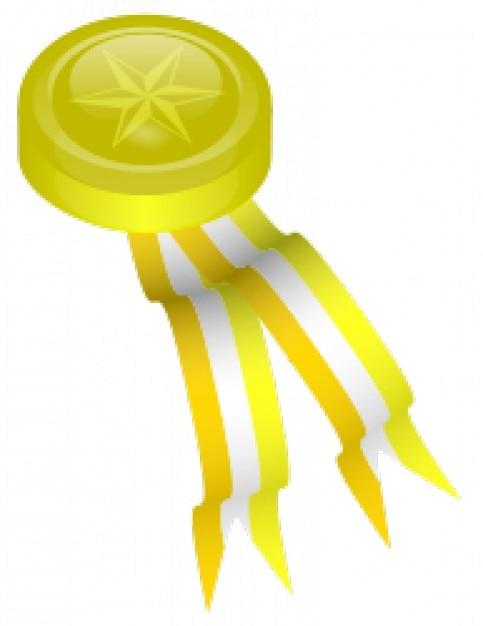 medalla de oro Vector Gratis