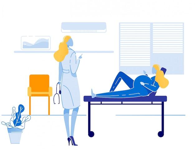 Médico se comunica con paciente embarazada Vector Premium