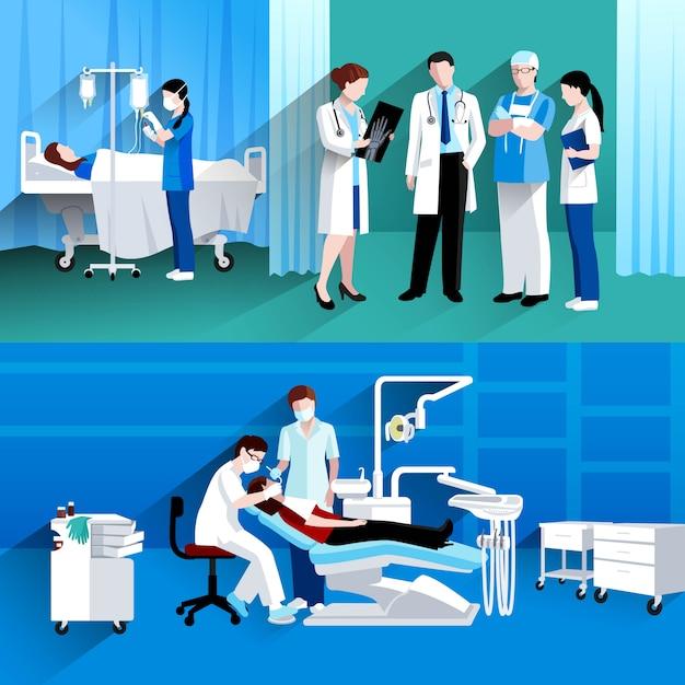 Médicos especialistas vector gratuito