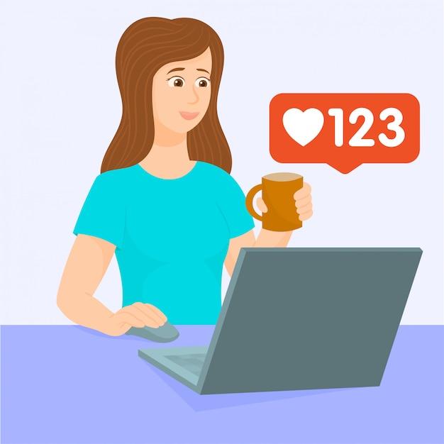 Medios de comunicación social. como icono, facebook, instagram. Vector Premium