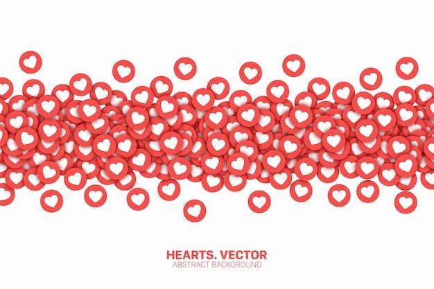 Medios de comunicación social como los iconos de fondo abstracto conceptual Vector Premium