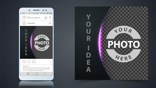 Medios de comunicación social, plantilla de publicación de instagram Vector Premium