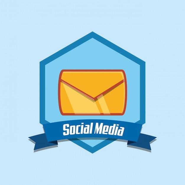 Medios de comunicación social Vector Premium