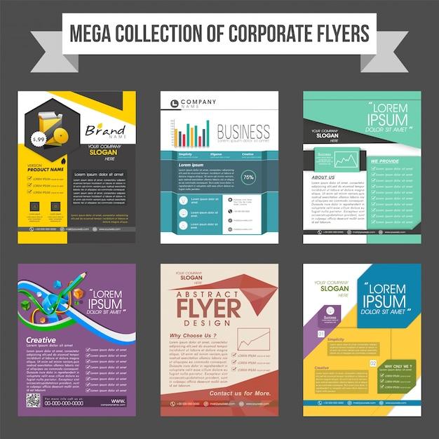 Mega colección de folletos corporativos o plantillas de diseño ...