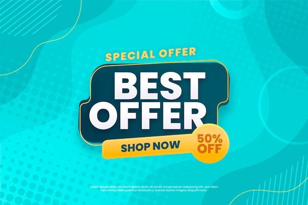 Mejor fondo de oferta compra ahora vector gratuito