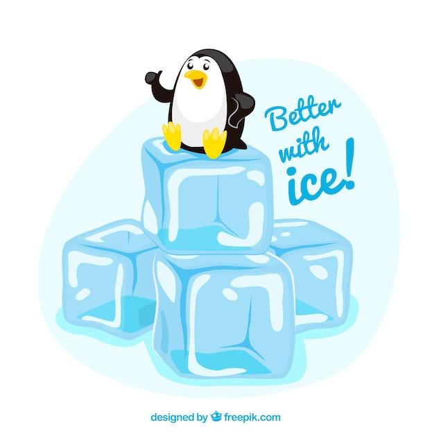Mejor con hielo! vector gratuito