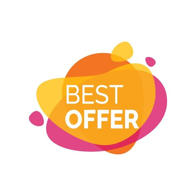 Mejor inscripción de oferta en Paint Blot Vector Gratis