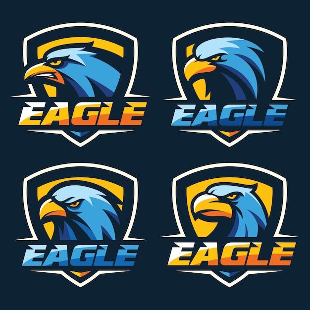Mejor vector de cabeza de águila logo Vector Premium
