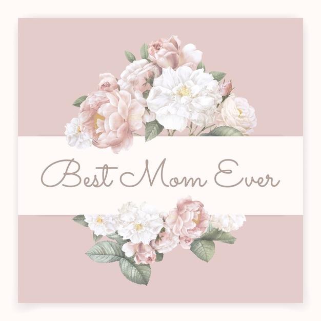 Las mejores letras de mamá vector gratuito