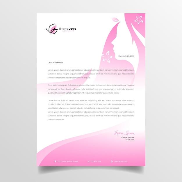 Membrete de mujer de negocios Vector Premium
