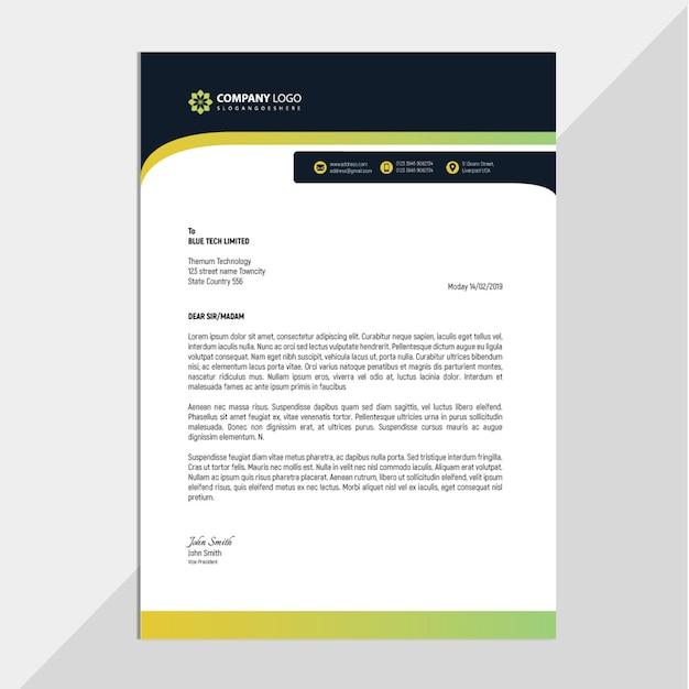 Membrete profesional para empresas Vector Premium