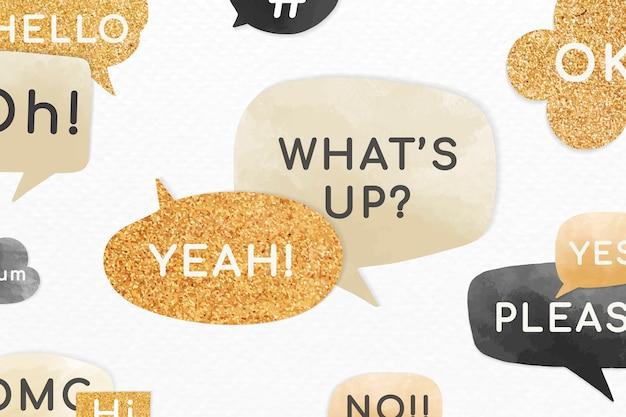 Mensajes de burbujas de discurso motivacional vector gratuito