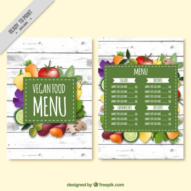 menu verduras y frutas