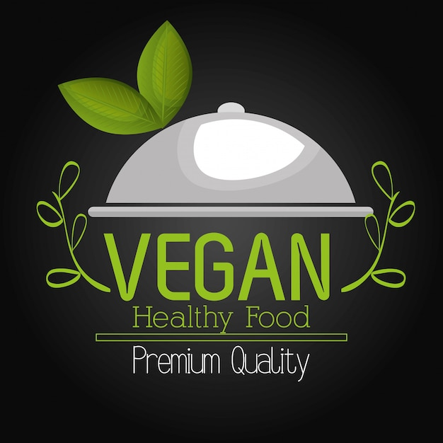 Menú de comida vegetariana vector gratuito
