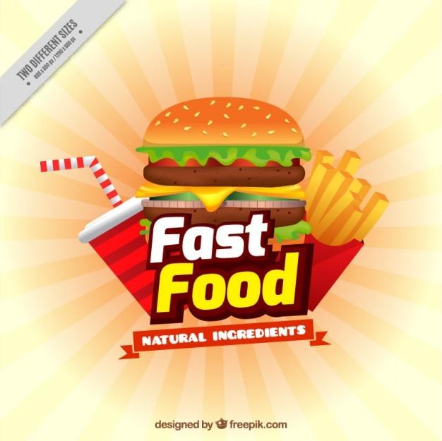 Roadside Sign Fast Food
