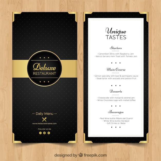 elegante menu - Kubre.euforic.co