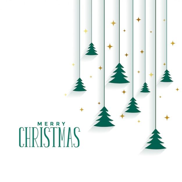 Merry christmas tree elegant vector gratuito