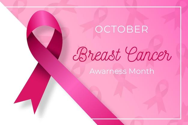 Mes de la conciencia del cáncer de mama vector gratuito