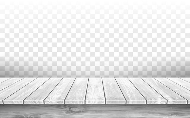 Mesa de madera gris con superficie envejecida, realista vector gratuito
