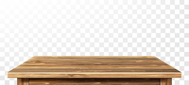 Mesa de madera con superficie envejecida, realista vector gratuito