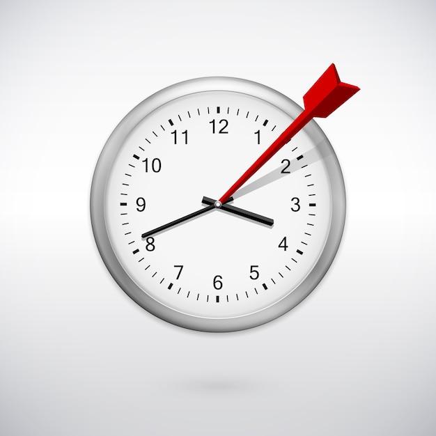 Metáfora empresarial el tiempo es dinero, concepto de proceso de planificación de la gestión del tiempo vector gratuito