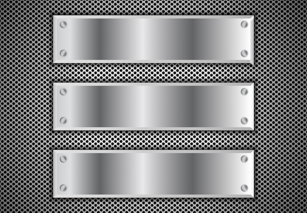 Metal background 3d Vector Premium
