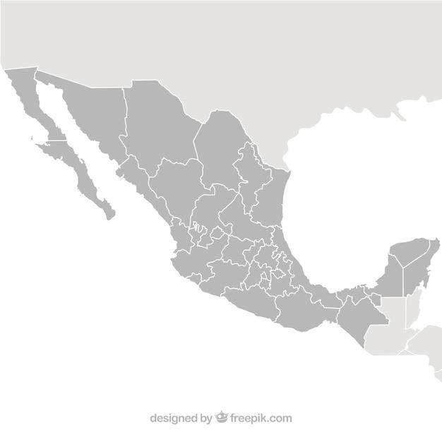 México Mapa Vectorial Descargar Vectores Gratis