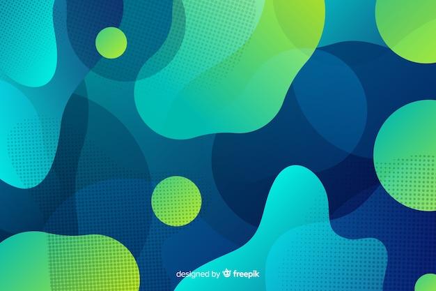 Mezcla gradiente de formas líquidas vector gratuito