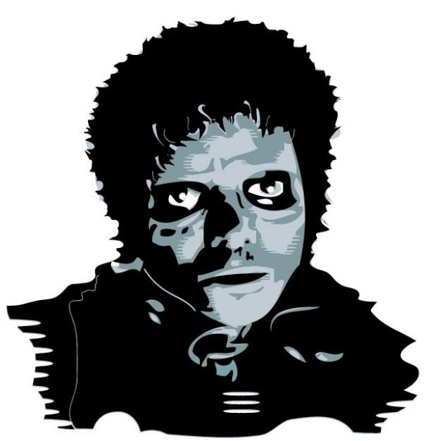 Michael jackson retrato vector gratuito
