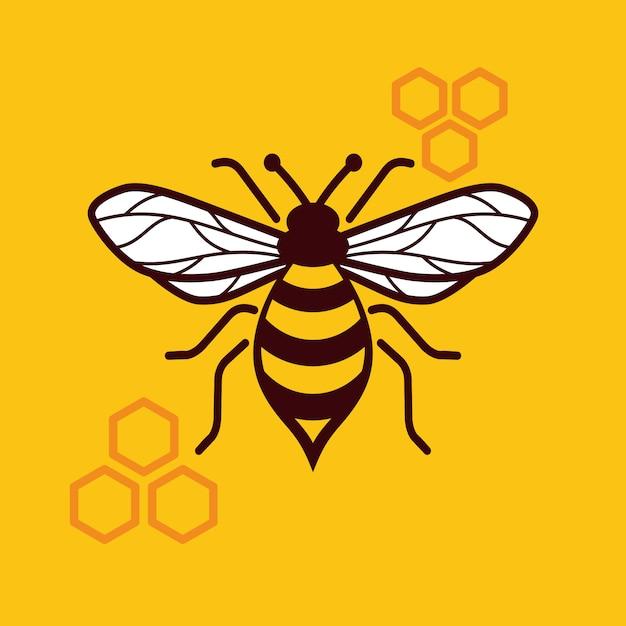 Miel de abeja Vector Premium