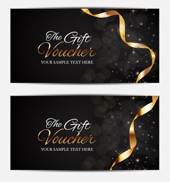 Miembros de lujo, plantilla de tarjeta de regalo para su negocio Vector Premium