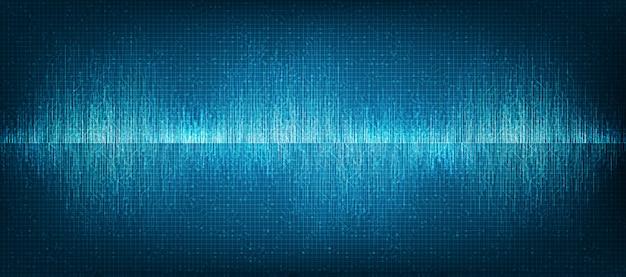 Mini fondo de la tecnología de onda de sonido digital Vector Premium