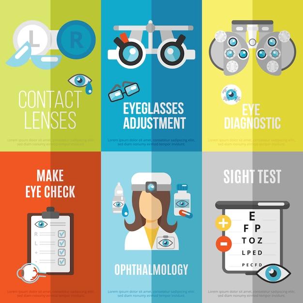 Mini póster oculist vector gratuito