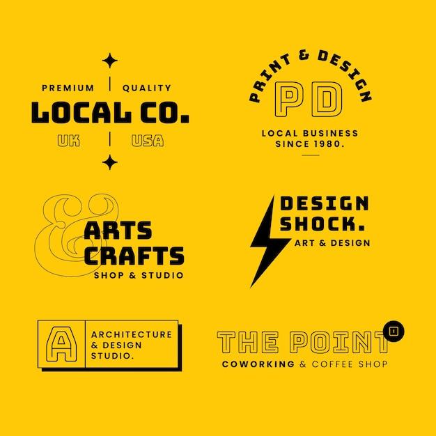 Minimal logo collection en dos colores. vector gratuito
