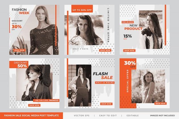 Minimalista fashion sale publicación en redes sociales Vector Premium
