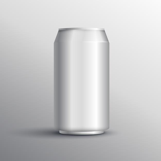 Mockup de lata vector gratuito