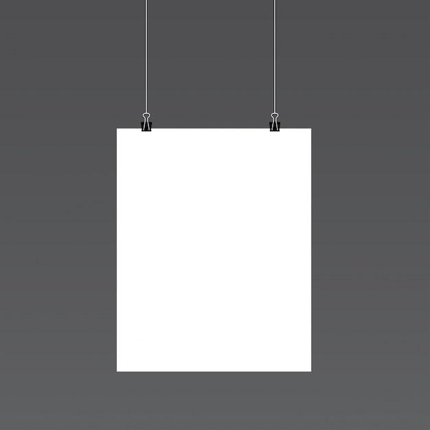 Mockup de retrato de papel vector gratuito
