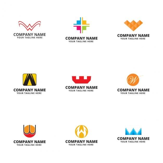 Modelo de logos de letra w descargar vectores gratis for Logos con letras