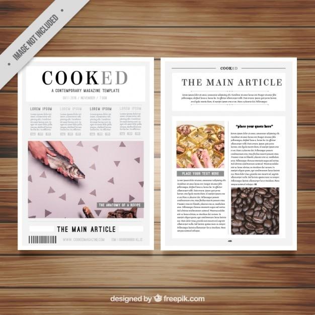 Modelo de revista con imagenes descargar vectores gratis for Interior design magazine articles
