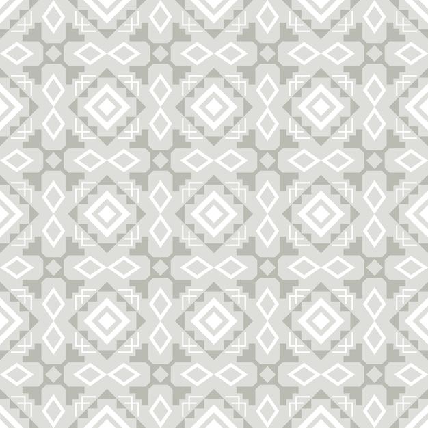 Modelo inconsútil elegante ornamental del azulejo gris y blanco, ejemplo del vector Vector Premium