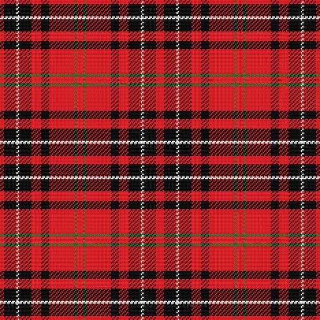 Modelo inconsútil del tartán escocés negro Vector Premium