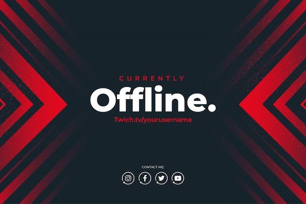 Modern twitch actualmente sin conexión de fondo vector gratuito