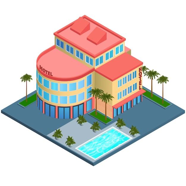 Moderna casa isom trica descargar vectores gratis for Casa moderna vector